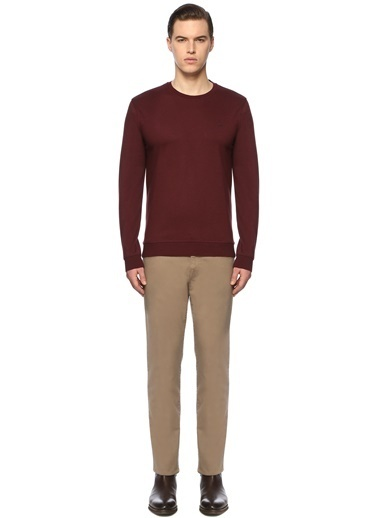 George Hogg George Hogg 7003939 Slim Fit Bordo Sweatshirt Erkek Sweatshirt Bordo